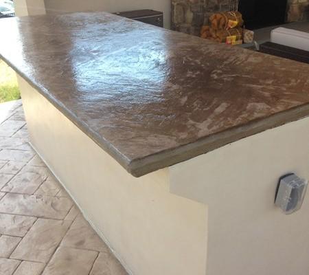Concrete Countertop Color Options : Stamped Concrete Countertops - Amcon, LLC